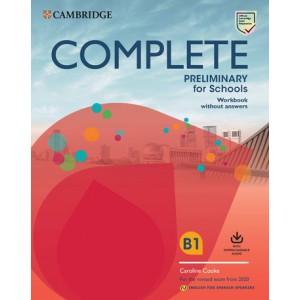 Complete Preliminary for Schools Workbook