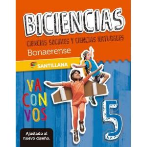 Biciencias. Cs. sociales y Cs. naturales 5. Bonaerense. Santillana va con vos