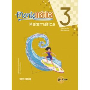 Mentemática 3, educación secundaria: Matemática, texto escolar